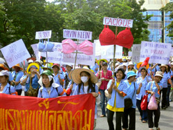 Gina workers marching